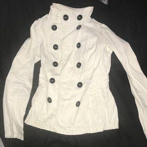 White Jacket (Pea Coat Style)
